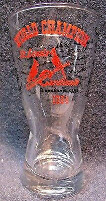 VINTAGE 1964 World Series CHAMPIONS ST LOUIS Cardinals team signature beer glass