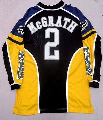 Signed Jeremy Mcgrath Fox Yamaha Team Chaparrall Ama Supercross 1 Year Jersey