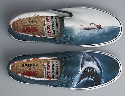 Sperry Jaws Slip On Horror Trainers Limited Edition Vans Converse Comic Book