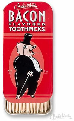 Bacon Flavored Toothpicks Collectable Tin Gag Gift Archie McPhee