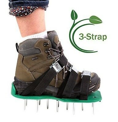 Ohuhu Lawn Aerator Shoes /Spikes Aerator Sandals for Aerating Your Lawn or Yard