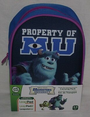 LeapFrog Monsters Inc University LeapPad Carrying Case Bag Backpack Sulley New