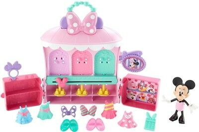Fisher-Price Disney Minnie Mouse Sparkle 'N Spin Fashion Bow-Tique Playset