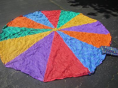 Child's 9.5'd Colorful Play Therapy Educational Parachute With Storage Bag