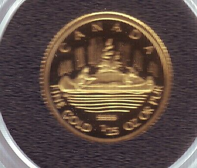 Canada 2005 1/25th oz.Gold Coin Voyageur pristine as issued with coa & case