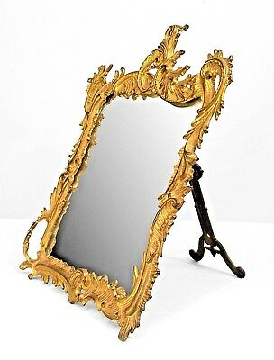 French Louis XV Style (19/20th Cent) Bronze Doré Dressing Table Mirror