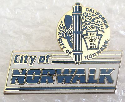 City of Norwalk, California Travel Souvenir Collector Pin