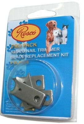 6 Blade Replacement Nail Clipper Blades, Fits in All Resco Guillotine Trimmers