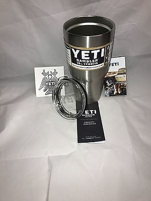 x2 YETI 30 oz Rambler Tumbler Cooler CUP Stainless Free Ship From USA