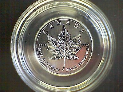 Canada 1993 1/10th oz.Platinum Coin Maple Leaf pristine as issued with case