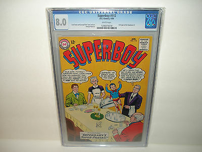 Superboy #112 (Apr 1964, DC)  CGC 8.0  White pages  Check my other items