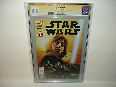 Star Wars #7 CGC 9.8 SS Signed x3 Cassaday,Ponsor and Bianchi  White Pages !!!
