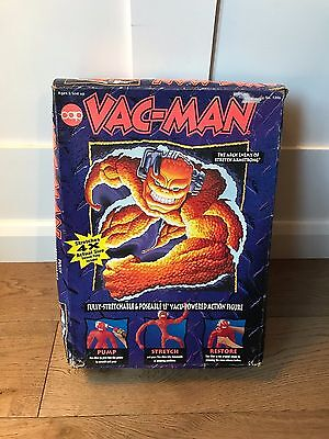 Vac Man Action Figure - Very Rare - Vintage - Classic Toy - Complete with Box