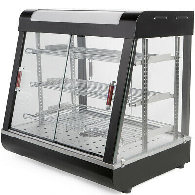 """Commercial Food court restaurant Heat Food pizza Display Warmer Cabinet 27""""Glass"""