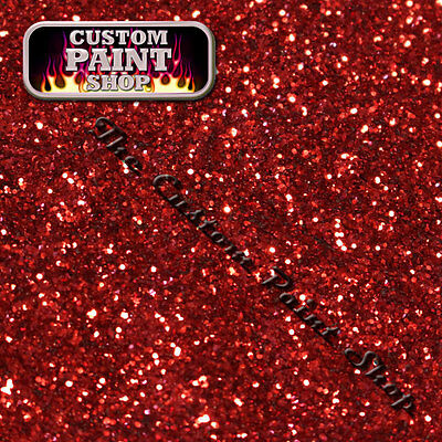 """Metal Flake, Custom Paint HELLFIRE CANDY RED  50grams Large (375micron 0.015"""")"""