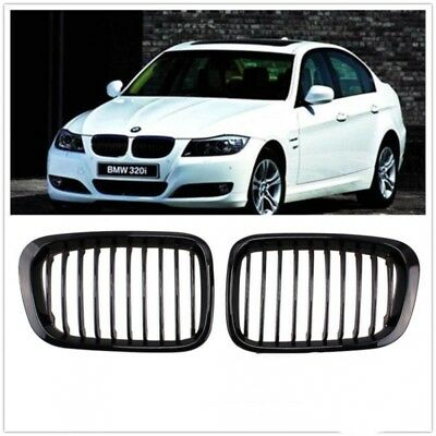 Black Front Kidney Grilles Grill Replacement For BMW 1998-2001 3 Series Sedan