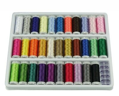 Simthread 32 Brother Colors Polyester 40WT Embroidery Machine Thread, 300M Each
