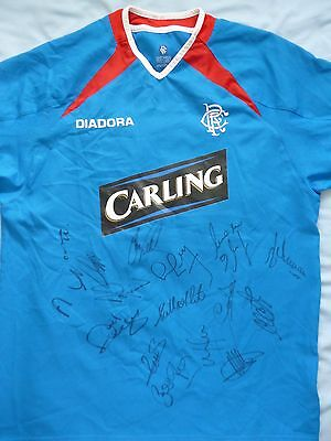 Rangers Signed Legends Shirt - Ibrox Stadium, Football Autograph, Novo, Ferguson