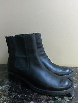 ee6a588fd4e TIMBERLAND Women s Toronto Black Leather Pull On Ankle Boots  44370 Sz 9.5M