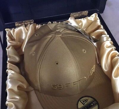 New Era Capture 59 Fifty At 50. Limited Edition Gold Anniversary Cap. Size 7 1|8