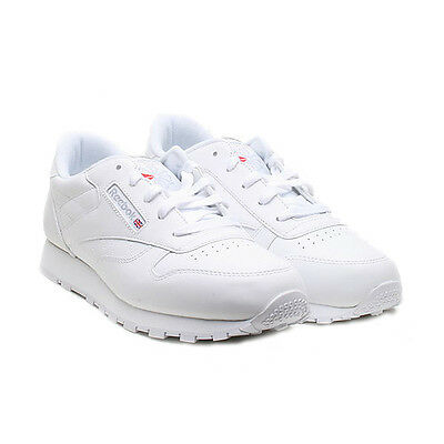 d2695f785b REEBOK YOUTH SHOES Classic Leather 50150 White Grey Running Tennis ...