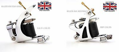 Pair Of Tattoo Machines By Killer Ink Abstract Liner & Shark Shader   Uk Stock