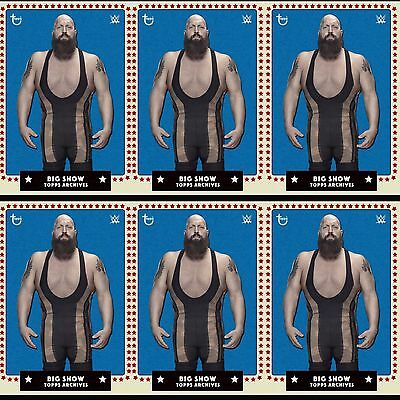 6x TOPPS ARCHIVES BLUE BIG SHOW Topps WWE Slam Digital Card