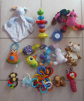 Bundle/Bulk Lot 15 Baby Toys Lamaze Rattles Squeak Teething Soft Toys Birth & Up