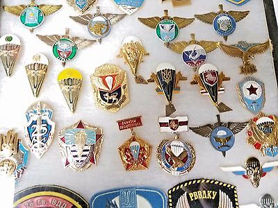 Russian Military Vintage  27 Military Pins & 7 Patches Lot Of 34