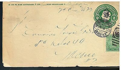 729 MEXICO PS Envelope Revolution Front Cover Mepsi E 70aA-1 Used 2c Villa 1916
