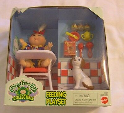 Cabbage Patch Kids collectible Feeding Playset NEW IN BOX Mattel 1996 May 1 BD