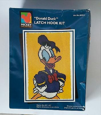 Vintage Donald Duck Latch Hook Kit Caron Mickey Unlimited
