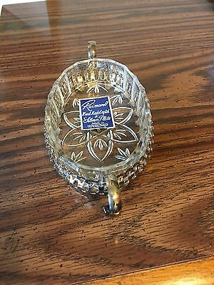 Raimond Crystal And Silver Plate Condiment Dish