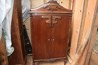 Art Deco 1930's Vintage Armoire, Wardrobe or Chifferobe