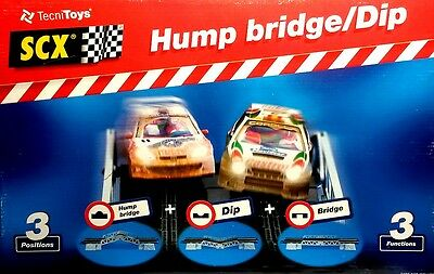 SCX 88020 Hump / Bridge / Dip - 3 positions for slot car tracks inc Scalextric