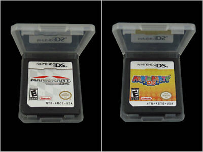 A lot of 2 Nintendo Mario Kart DS + Mario Party DS Version Game Card Cartridges