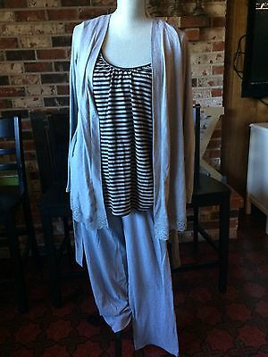 NWOT Bump in the Night Motherhood Maternity Nursing Tank/Jacket/Pants Pajama SM