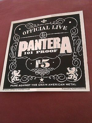 """Pantera 5""""x5"""" Gold Foil 101 Proof Cowboys From Hell Sticker"""