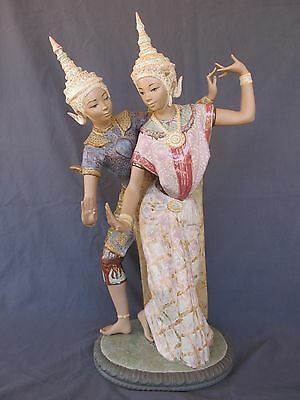"Beautiful Lladro Porcelain #2058  ""THAI COUPLE""  Perfect Condition!!"