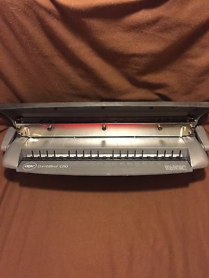 Gbc Combbind C50 Heavy Duty Hole Punch Binder System + Great Shape Free Shipping