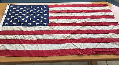 "Vintage 50 Star Valley Forge Flag Co ""Pioneer"" 3' x 5' 100% Cotton US Flag"