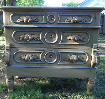 ANTIQUE Ornate Victorian chest of drawers with hidden compartment.  Hand Carved