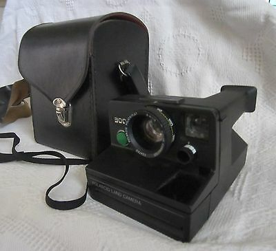 POLAROID LAND CAMERA 3000 SX-70 & Leather Case Made in USA