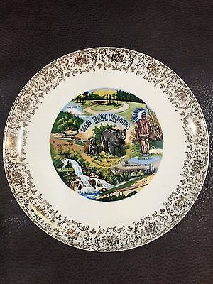 1950's Great Smoky Mountains Souvenir Collector's Plate North Carolina Tennessee