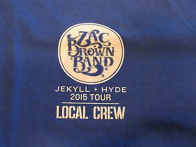 Zac Brown Band Local Crew Tee-Shirt!! Unworn!! Unwashed!! X-Large! 2015 Tour!!