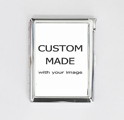 cigarette case CUSTOM MADE with your image card holder wallet box with lighter