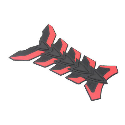 3D Fuel Oil Tank Pad Protective Sticker Decal for Suzuki Honda Yamaha - Red