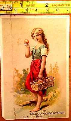 Niagara Starch Trade Card Beautiful Girl Victorian Advertising Vintage Soap