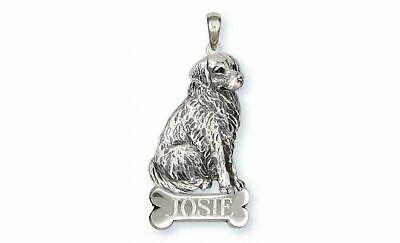 Bernese Mountain Dog Pendant Jewelry Sterling Silver Handmade Dog Pendant BM20-N