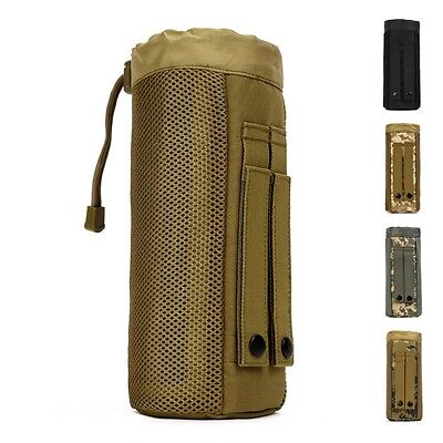 Tactical Military Molle System Water Bottle Bag 800ML Kettle Pouch Holder
